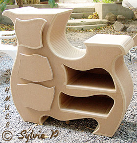 le buffet baroque contemporain en carton. Black Bedroom Furniture Sets. Home Design Ideas