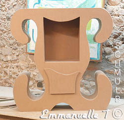 Meuble en carton simple baroque