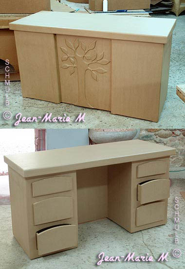le bureau classique design ou baroque en carton. Black Bedroom Furniture Sets. Home Design Ideas