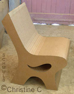Chaise en carton de Christine