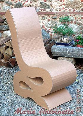 Chaise en carton avec la 3em methode de schmulb - Chaise en carton ...