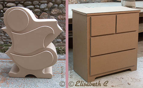 Des Commodes De Differentes Formes Fabriquees En Carton