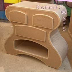 meubles d 39 apprentissage du stage basique de constructions en carton. Black Bedroom Furniture Sets. Home Design Ideas