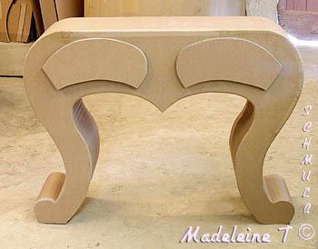 coiffeuse en carton avec la methode schmulb 2. Black Bedroom Furniture Sets. Home Design Ideas