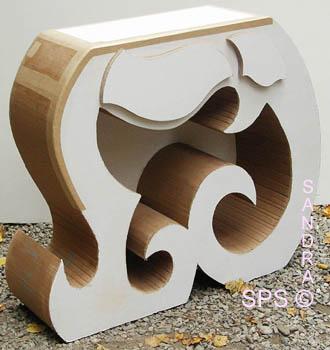 Le meuble en carton style arabesque for Meuble arabesque tunisie