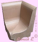 Fauteuil d'angle carton formation professionnelle