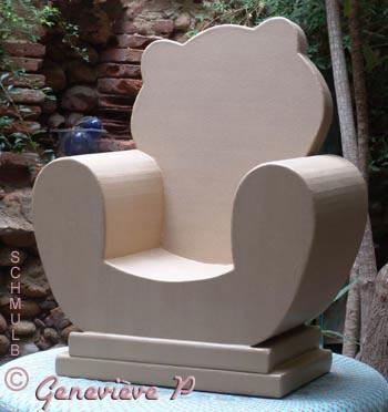 le fauteuil et le siege en carton. Black Bedroom Furniture Sets. Home Design Ideas