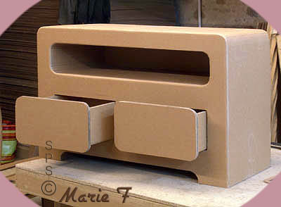 meuble tv plusieurs styles de banc t l en carton. Black Bedroom Furniture Sets. Home Design Ideas