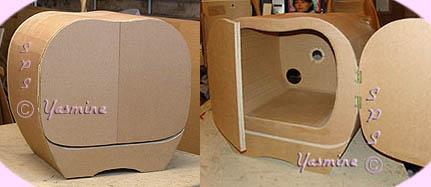 Meuble tv plusieurs styles de banc t l en carton for Meuble tv qui ferme