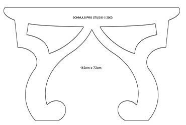 fabriquer une table basse en carton avec un patron gabarit gratuit. Black Bedroom Furniture Sets. Home Design Ideas