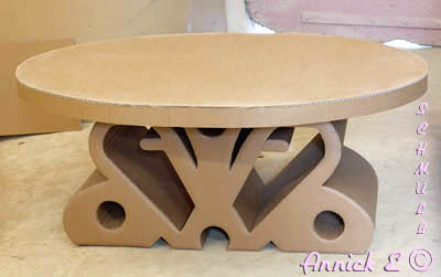 Table basse en carton table de salon - Table basse en carton ...