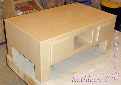 meuble en carton table basse