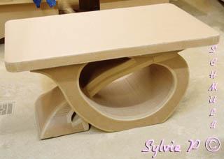 table basse en carton table de salon On table basse en carton