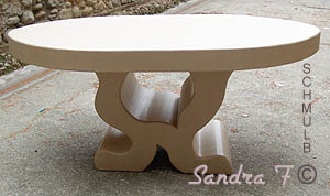 Grande table en carton