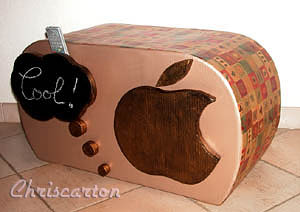 Apple - Tabouret en carton
