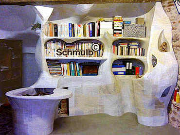 Ameublement organique en papier m ch style d co grotte et - Meuble en papier mache ...